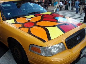Flowered Taxi (CC BY 2.0) by Barbara L. Hanson
