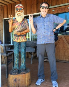 The author at Purple Haze Lavender Farm, Sequim, WA (Dr. Stout is on the right).